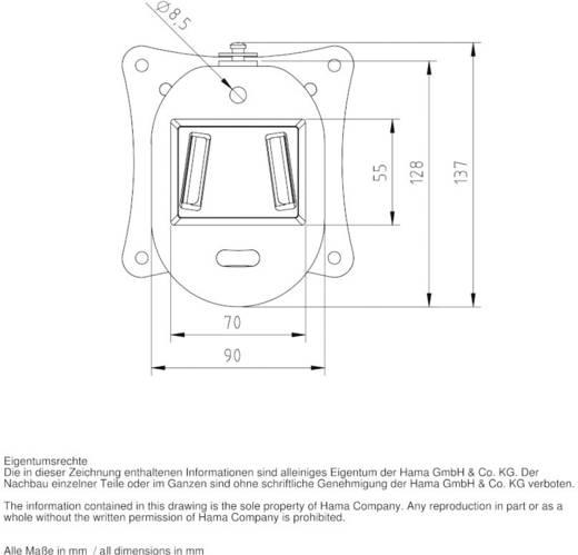 "Hama FIX ""Ultraslim"" XS TV-beugel 25,4 cm (10"") - 66,0 cm (26"") Vast"
