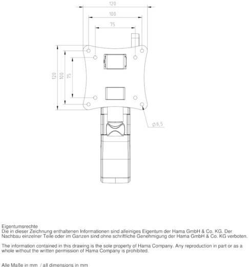 "Hama Fullmotion Ultraslim XS 2 armen TV-beugel 25,4 cm (10"") - 66,0 cm (26"") Kantelbaar en zwenkbaar, Roteerbaar"
