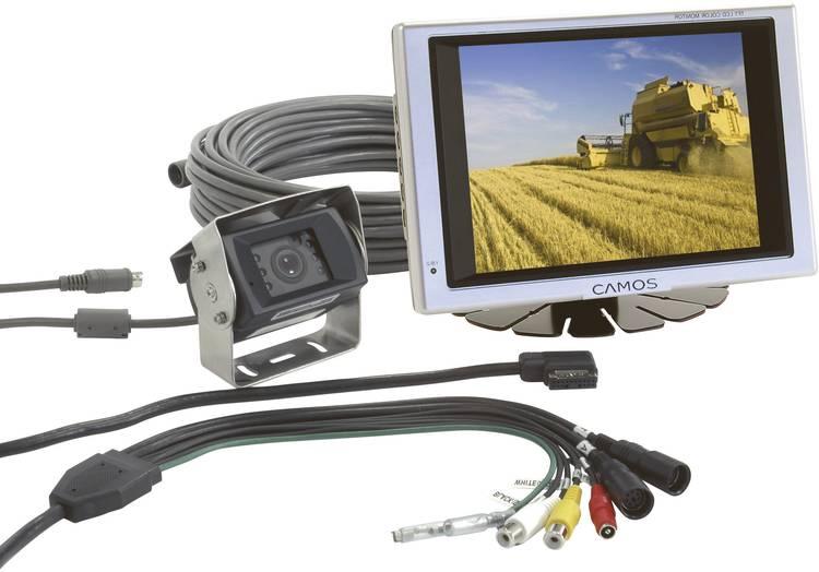 Camos RV-562 Kabelgebonden achteruitrijcamera systeem 2 camera-ingangen. Geïntegreerde microfoon. Geïntegreerde verwarming Opbouw