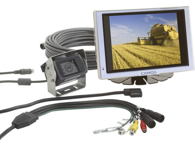 Camos RV 562 Kabelgebonden achteruitrijcamera systeem 2 camera ingangen, Geïntegreerde microfoon, Geïntegreerde verwarming Opbouw