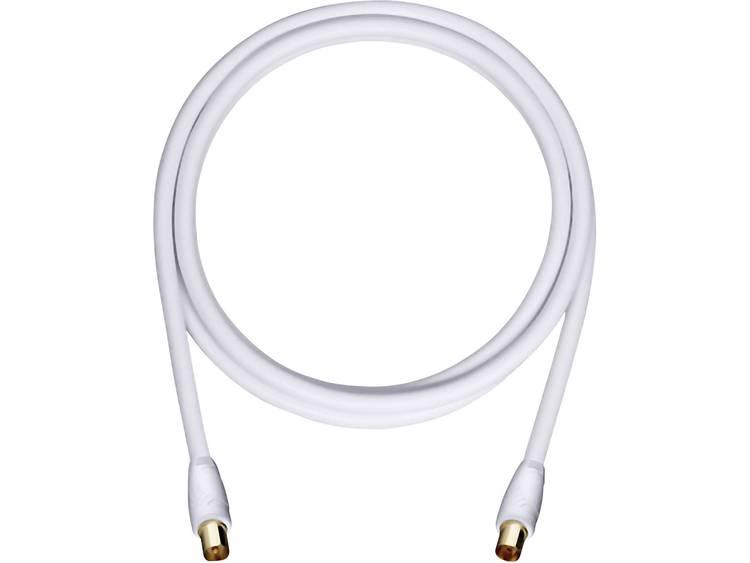 Oehlbach Antenne Kabel [1x Antennestekker 75 ⦠- 1x Antennestekker 75 â¦] 2 m 110 dB Vergulde steekcontacten Wit