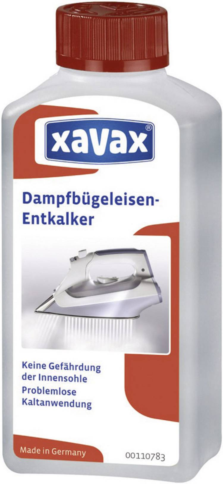 Image of Stoomstrijkijzer ontkalker Xavax 00110783 250 ml