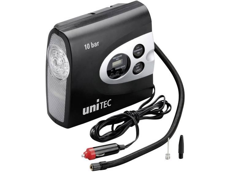 Unitec Compressor 10945 10 bar Met werklamp, Snoeropbergruimte opname, Digitaal display, Automatische afschakeling