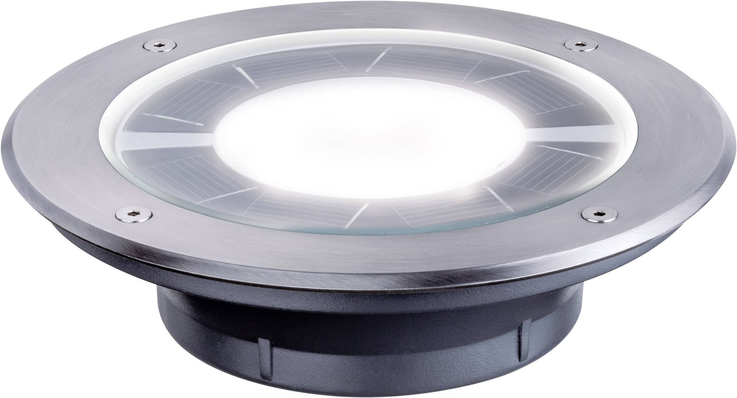 Solar Inbouwspots Tuin : Paulmann pandora solar inbouwlamp w warm wit rvs