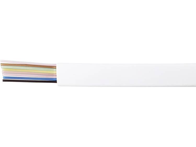 Kash Telefoonkabel LiYY 8 x 0.14 mm² Wit 100 m