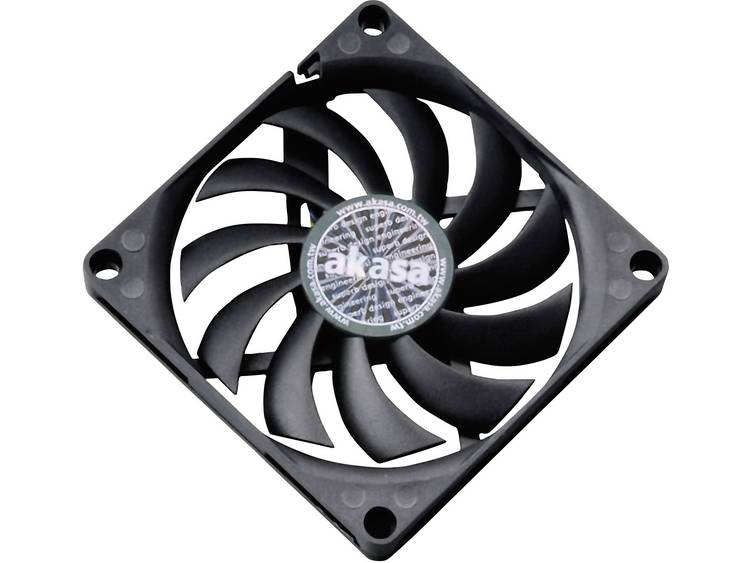 PC ventilator Akasa AK-FN076 Slimline Zwart (b x h x d) 80 x 80 x 10.8 mm