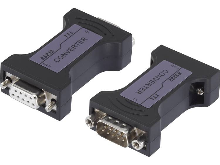 Serieel Adapter [1x D-sub stekker 9-polig 1x D-sub bus 9-polig] Zwart