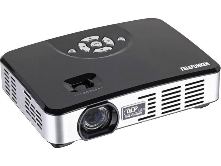 Telefunken Beamer DLP400 LED Helderheid 400 lm 1280 x 800 WXGA 1000  1 Zwart