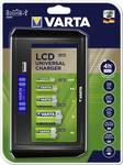 LCD Universal oplader voor ronde batterijen