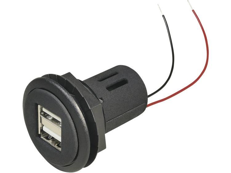 ProCar 67321501 USB aansluiting voor in de auto Stroombelasting (max.)=5 A Geschikt voor USB A
