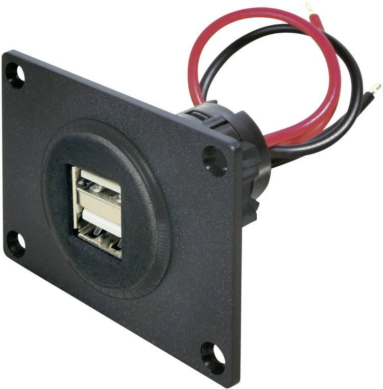 Image of ProCar 67322501 USB aansluiting inbouw 2 voudig Stroombelasting (max.)=5 A Geschikt voor USB-A