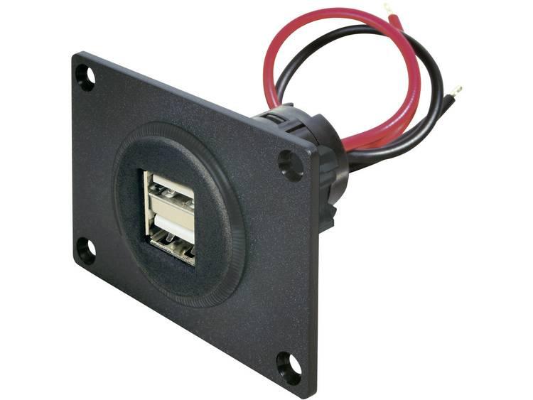 ProCar 67322501 USB aansluiting inbouw 2 voudig Stroombelasting (max.)=5 A Geschikt voor USB A