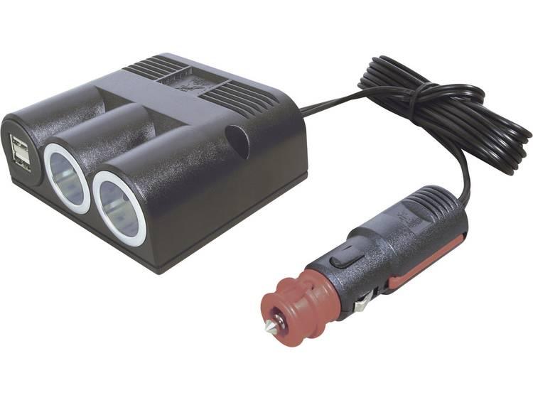 Sigarettenaanstekerverdeler Aantal sigarettenaanstekerbussen 2 x Interfaces USB 2 x Stroombelasting (max.) 16 A ProCar 67325501