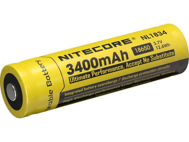 NiteCore NL1834 Speciale oplaadbare batterij 18650 Li-ion 3.7 V 3400 mAh