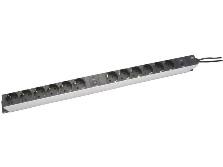 Digitus Aluminium outlet strip with overload protection, 12 outlets (DN-95405)