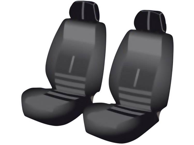 Unitec 84956 Twin Autostoelhoes 6 delig Polyester Zwart Bestuurder, Passagier