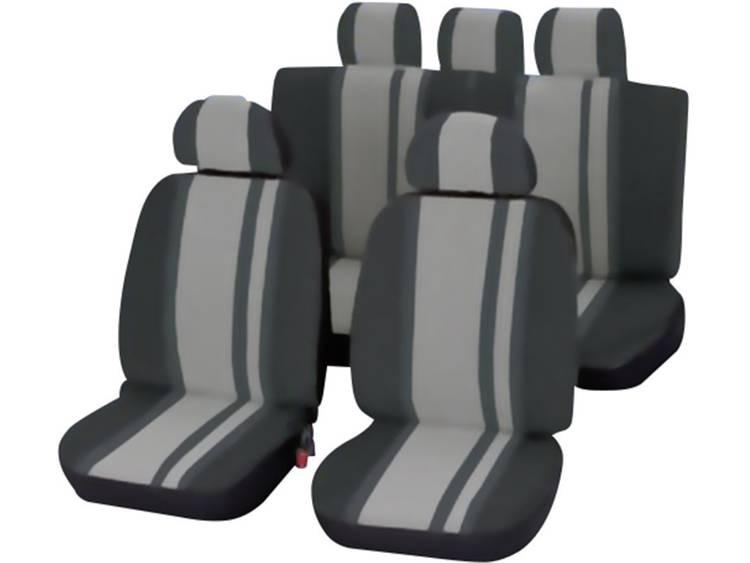 Unitec 84957 Newline Autostoelhoes 14 delig Polyester Zwart, Grijs Bestuurder, Passagier, Achterbank
