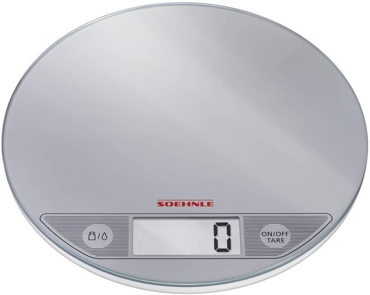 Image of Digitale keukenweegschaal Digitaal Soehnle Flip Weegbereik (max.)=5 kg Zilver