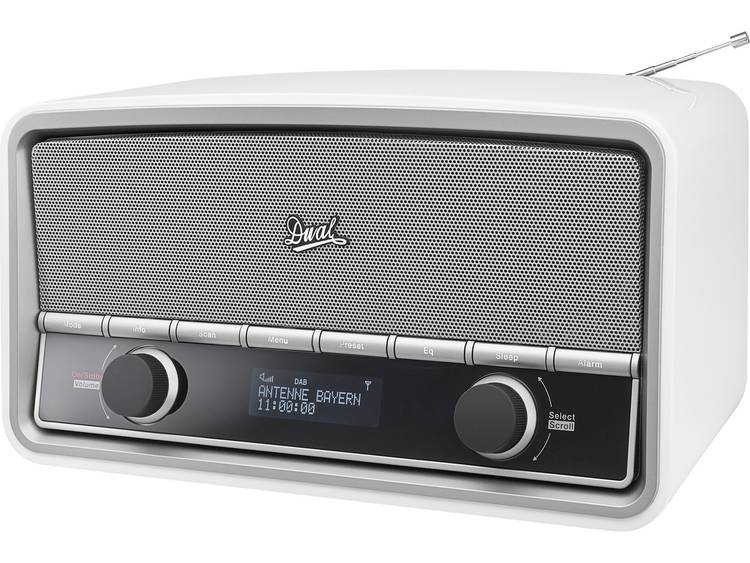 Dual NR 5 Tafelradio DAB+, FM AUX, Bluetooth Wit (glanzend)