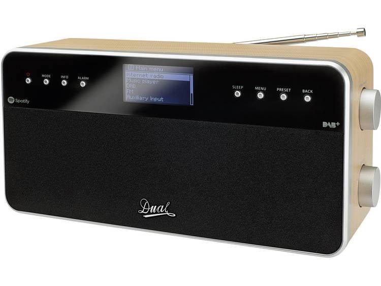 Dual IR 6S Tafelradio met internetradio DAB+, FM AUX, Internetradio Spotify Hout