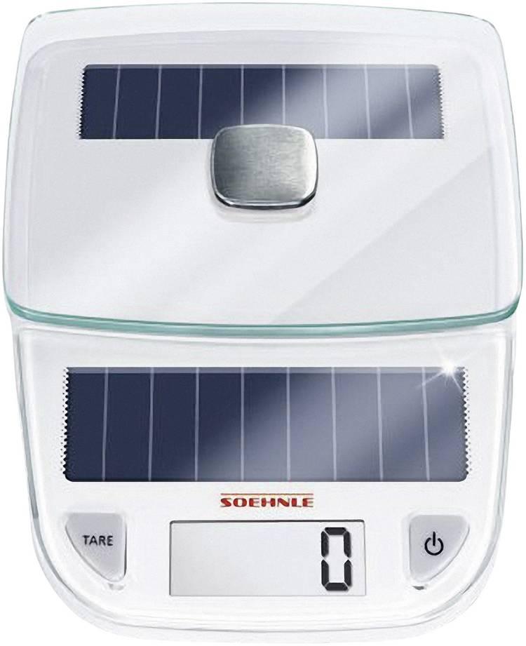 Digitale keukenweegschaal Digitaal Soehnle Easy Solar Weegbereik (max.)=5 kg Wit