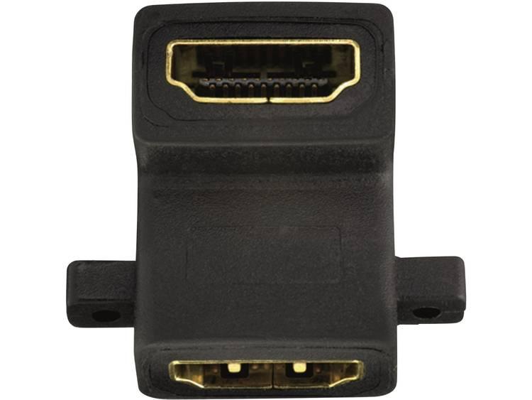 HDMI Adapter Haaks aan één zijde [1x HDMI-bus <=> 1x HDMI-bus] 0.00 m
