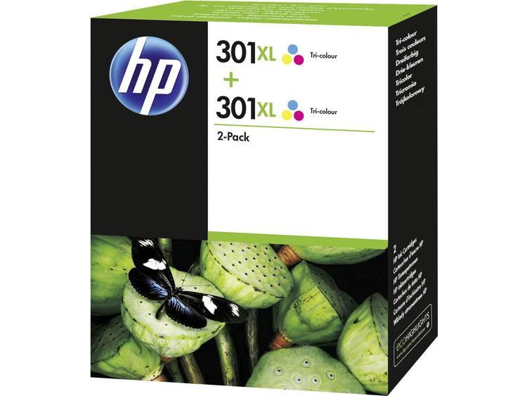 HP Inkt 301XL Origineel 2-pack Cyaan, Magenta, Geel D8J46AE