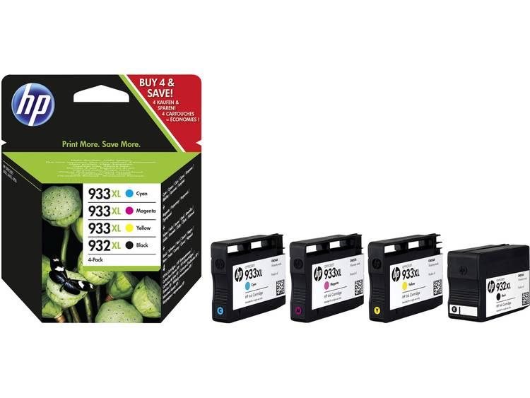 HP Cartridge 932XL 933XL Origineel Combipack Zwart Cyaan Magenta Geel C2P42A