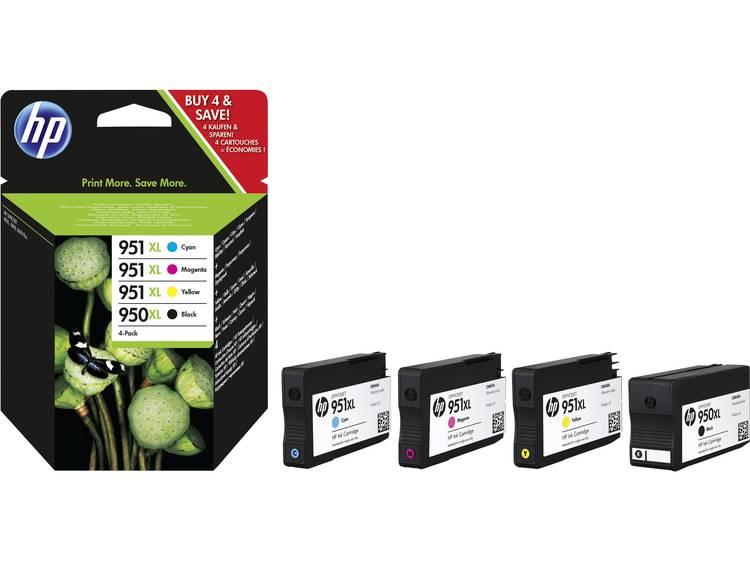 HP Inkt 950XL, 951XL Origineel Combipack Zwart, Cyaan, Magenta, Geel C2P43AE
