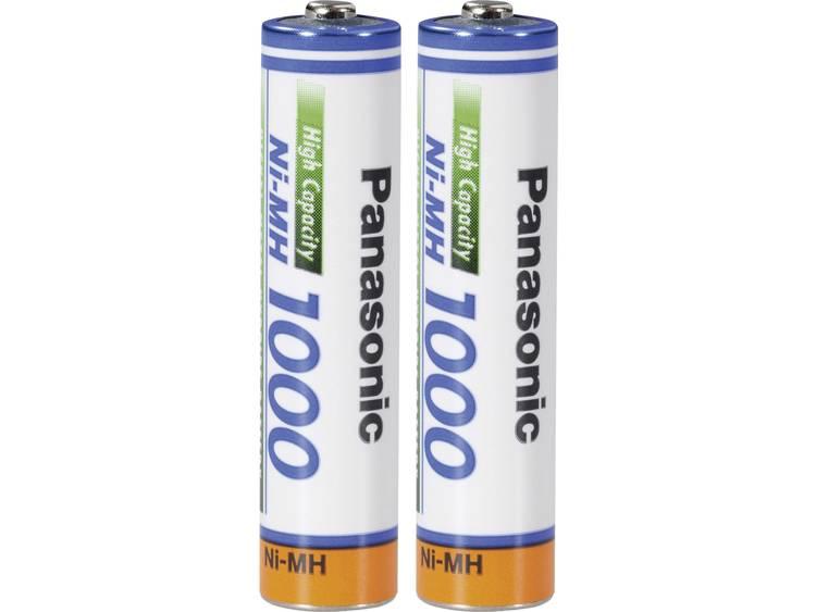 Panasonic 135901 AAA oplaadbare batterij (potlood) NiMH 1000 mAh 1.2 V 2 stuks