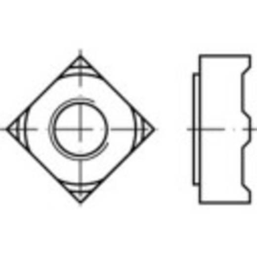 Vierkantmoeren M4 DIN 928 Staal 1000 stuks TOOLCRAFT 119084