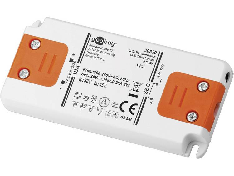 Transformator LED Verlichting Vermogen: 0 6 Watt