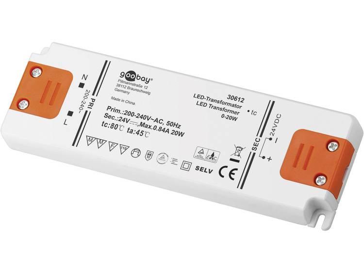 Transformator LED Verlichting Vermogen: 0 20 Watt