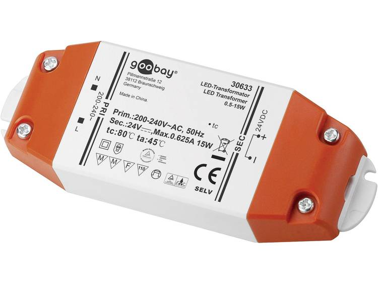 Transformator LED Verlichting Vermogen: 0.5 15 Watt