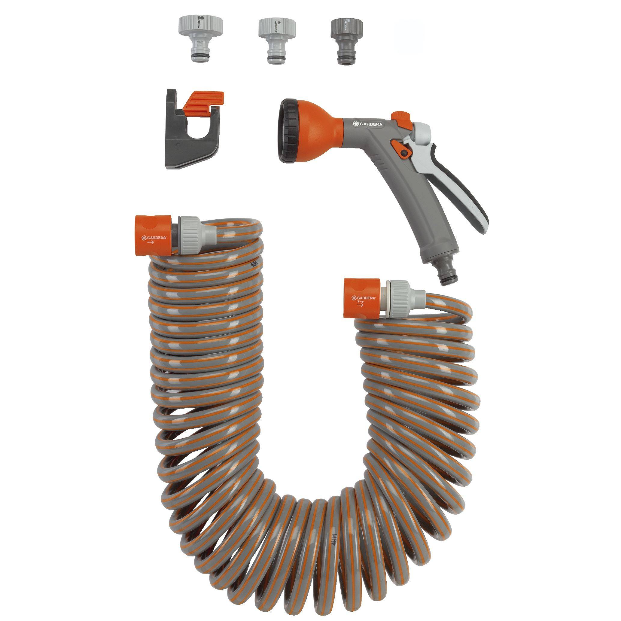 Vaak GARDENA 4647-20 Spiraal-tuinslang set 6.1 mm 1/4 inch 10 m Grijs QJ16