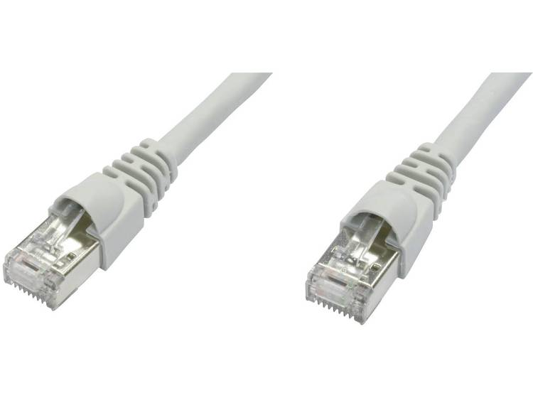 Netwerkkabel RJ45 CAT 6A S/FTP 0.5 m Wit Telegärtner