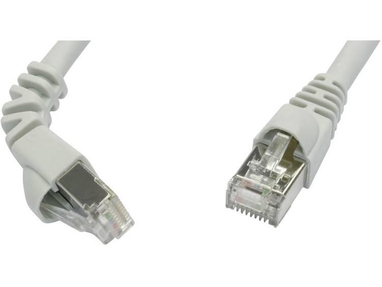 Netwerkkabel RJ45 CAT 6A S FTP 3 m Grijs Telegärtner