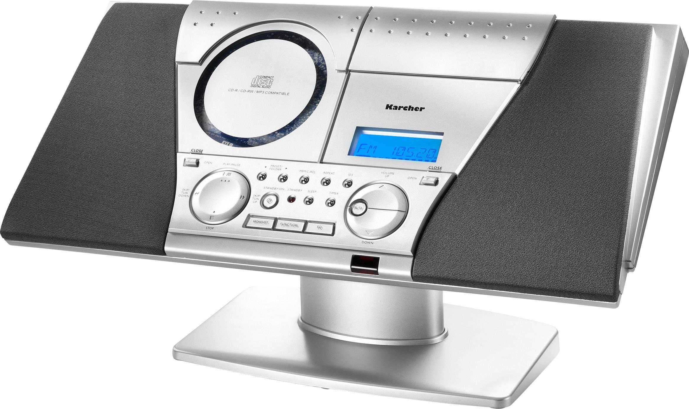 Karcher MC 6550(N) music center, stereo-installatie (CD, cassette ...