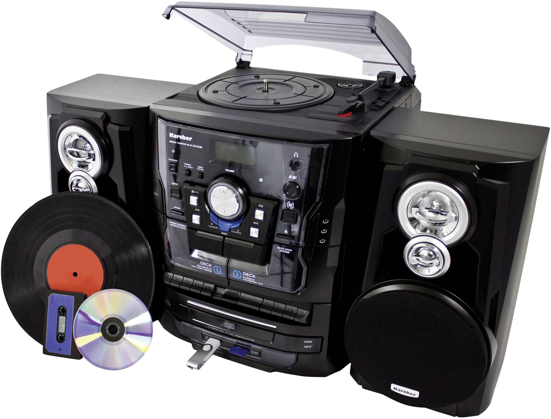 Karcher KA 350, stereo-installatie (CD, plaat, cassette, USB, SD, FM ...