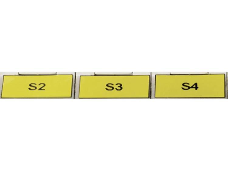 Etiketten per vel: 315 TAG121LA4-1102-YE Geel HellermannTyton Inhoud: 32 vellen