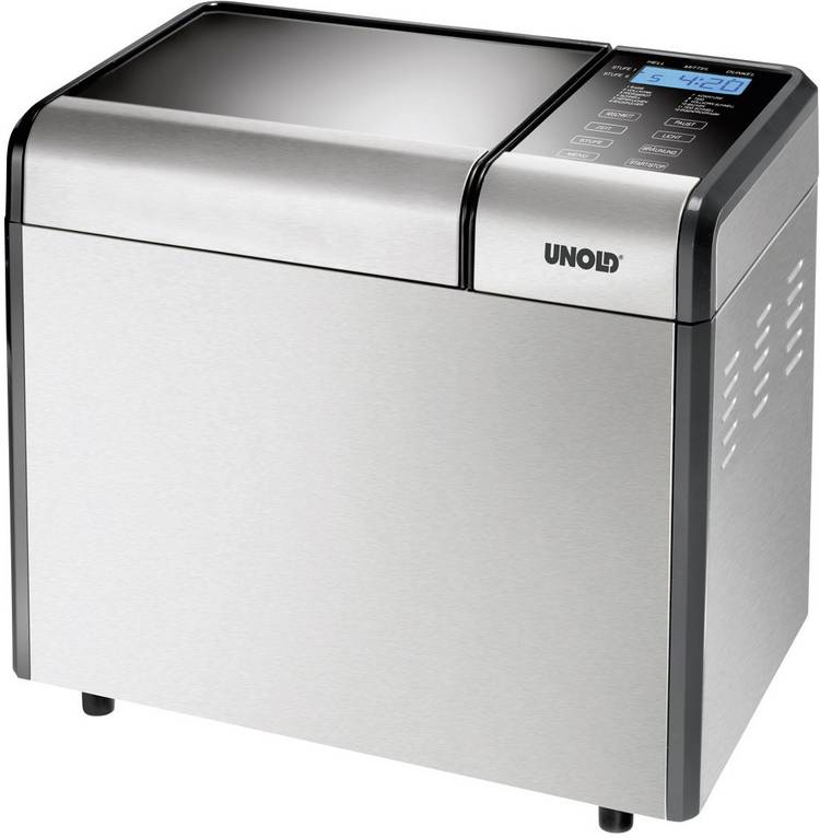 Image of Unold Broodbakmachine Backmeister Top Edition Timerfunctie Zilver (mat)