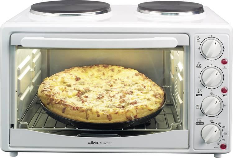 Image of Silva Homeline KK 2800-C Mini-oven Heteluchtfunctie, incl. kookplaat, met grillspies 27 l 3300 W