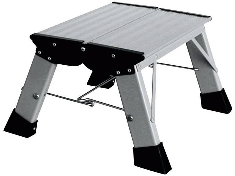 Krause 130327 Aluminium inklapbaar opstapje-trapje, aan beide zijden beklimbaar hoogte 2.20 m