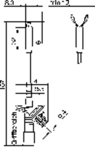 Veiligheids-krokodilklem Steekaansluiting 4 mm CAT III 1000 V Rood SKS Hirschmann KLEPS 2800