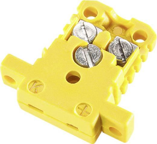 B+B Thermo-Technik Miniatuur Koppelingsblik K-type geel NiCrNi 0.5 mm² Geel 1 stuks