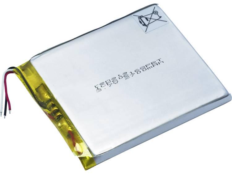 Renata ICP606168PRT Speciale oplaadbare batterij Prismatisch Kabel LiPo 3.7 V 2800 mAh