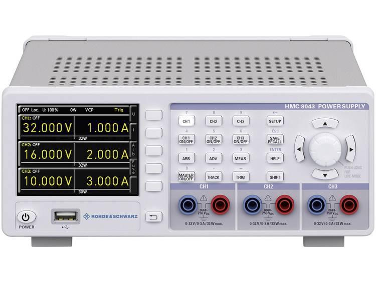 Rohde Schwarz HMC8043 Labvoeding regelbaar 0 32 V 0 3 A 100 W USB host U