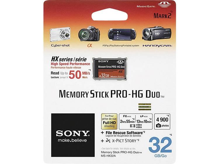 Sony Pro-HG Duo HX 32 GB Memorystick PRO Duo-kaart
