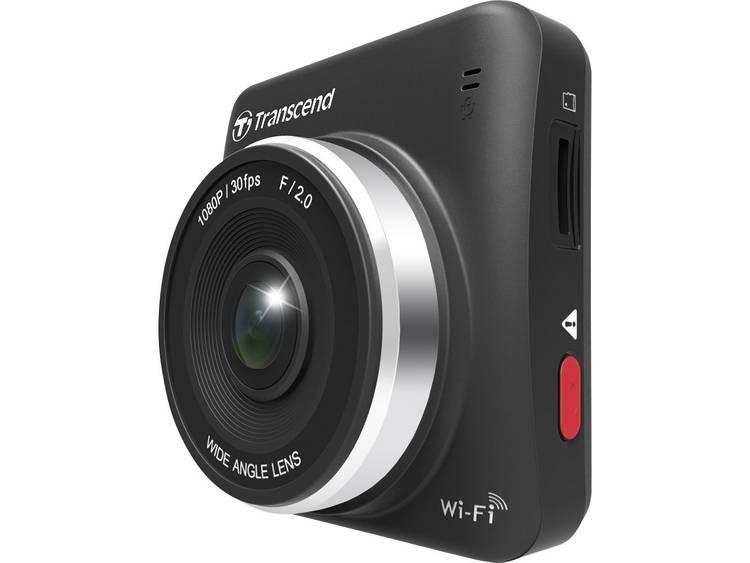 Transcend DrivePro 200 Dashcam Kijkhoek horizontaal (max.) 160 ° 12 V, 24 V Microfoon, Display