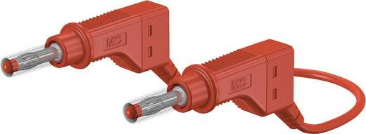 Stäubli XZG410 100 CM ROT Veiligheidsmeetsnoer [ Banaanstekker 4 mm - Banaanstekker 4 mm] 1 m Rood